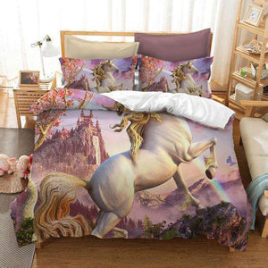 Horse Printed Bed Set