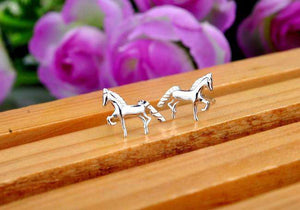 925 Silver Noble Horses Earrings - American Horse