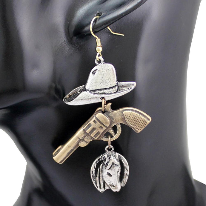 Rodeo Cowgirl Earrings - American Horse