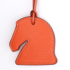 Bag Decoration Leather Horse Keychain