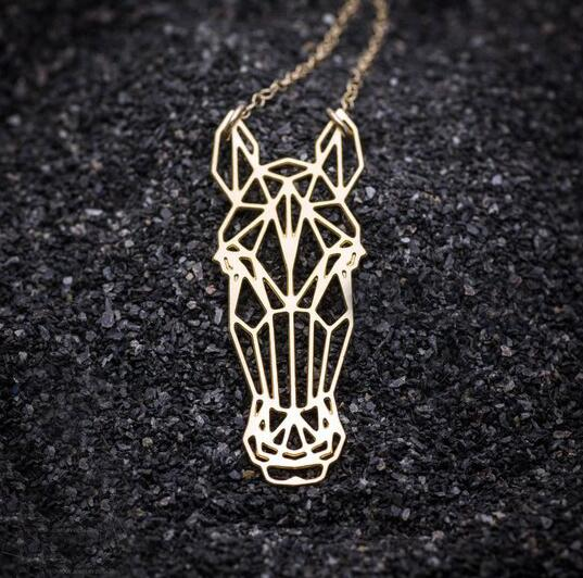 Beautiful Origami Horse Necklace
