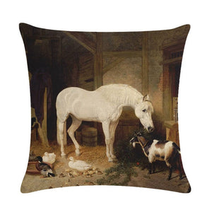 New Horses Cotton Cushion