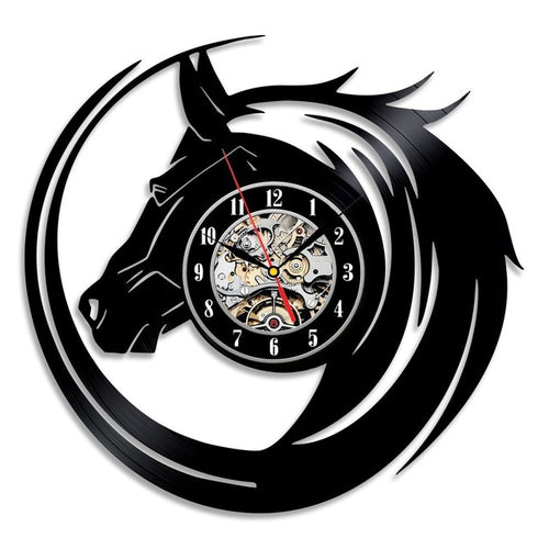 Vinyl Record Horse Wall Clock