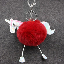 Fluffy Fur Unicorn Keychain