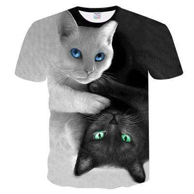 Yin & Yang Cats by DarkJacob Art - American Horse