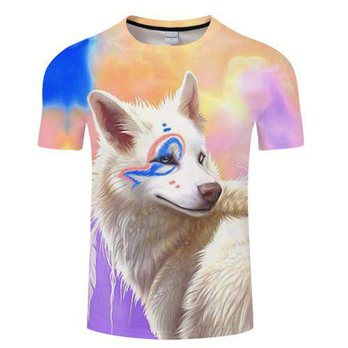 shirt with a Snow Wolf