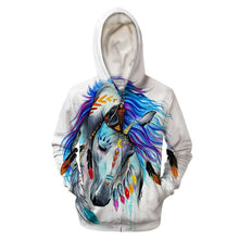 """Pferd"", Tribal Horse by Pixie Cold Art Zipper Hoodie"