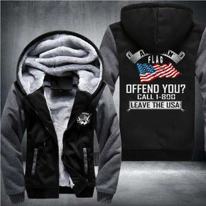 """American Flag Offend You?"" Heavy Jacket"