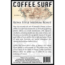 Load image into Gallery viewer, Coffee Surf Medium Roast Kona Blend