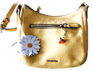 Yellow purse with white daisy