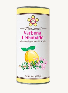 Sweet, refreshing verbena lemonade mix (8 oz) in a tin
