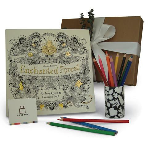 Coloring Book For Adults - Enchanted Forest Coloring Book And Pencil Set