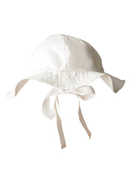 Wide-brimmed cotton summer baby hat
