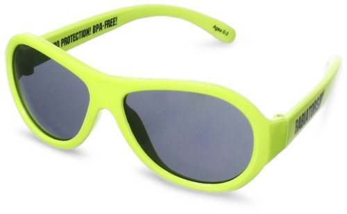 Lime green Babiators infant sunglasses UV protected