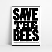 Save the Bees Screen Print - Black