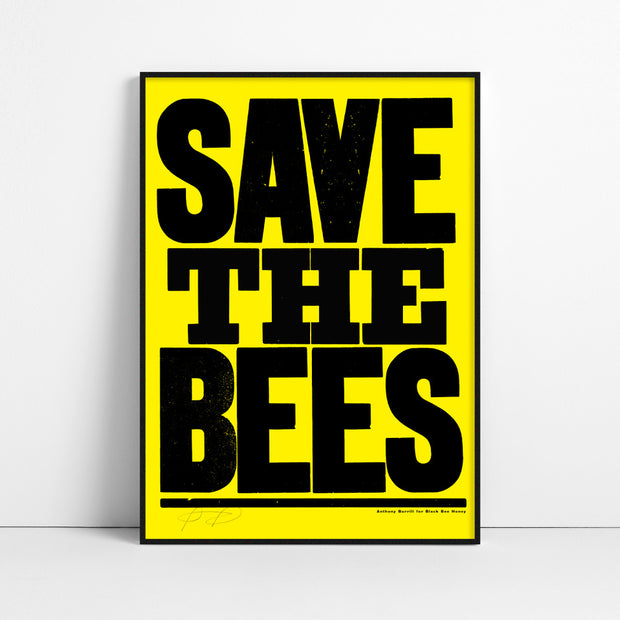 Save the Bees Screen Print - Yellow