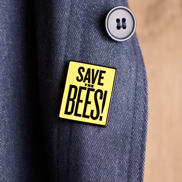 Save the Bees Enamel Badge