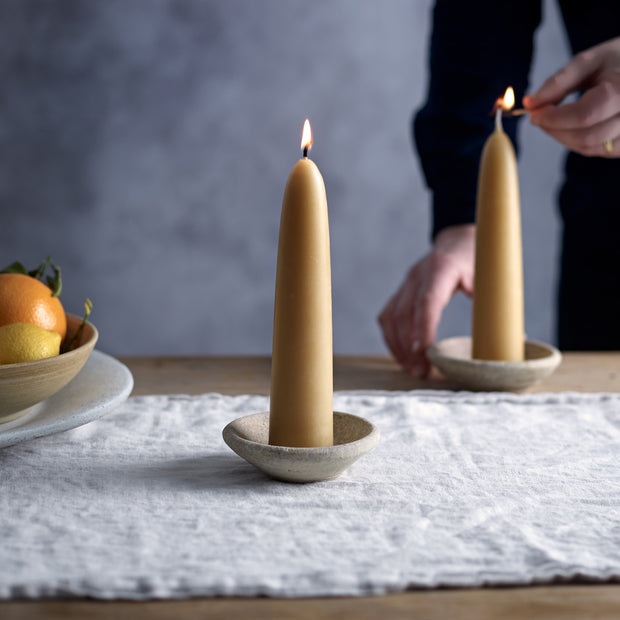 British Beeswax Candles - A Pair of Slim Ones