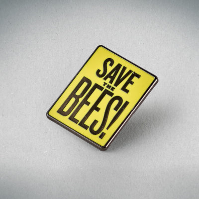 Save the Bees Enamel Badge (Case of 25)