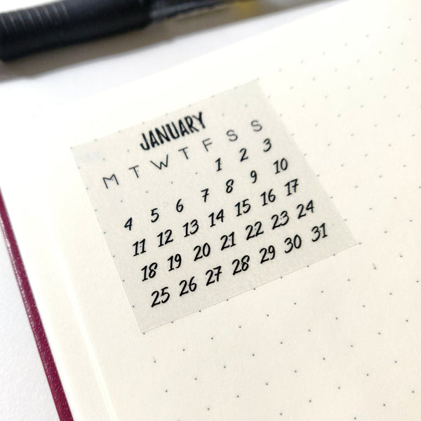 Bullet Journal Calendar 2021 Planner Stickers | Mistrunner Designs
