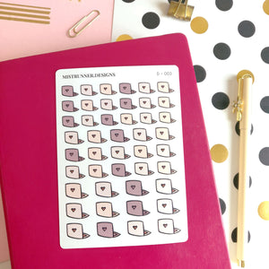 Laptop Doodle Icon Planner Stickers | Mistrunner Designs