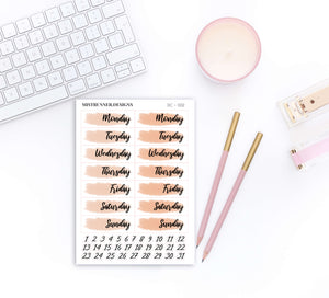 Yellow Date Cover Planner Stickers | Mistrunner Designs