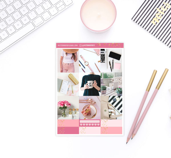 Like a Boss Photo Weekly B6 Planner Sticker kit - Mistrunner Prints