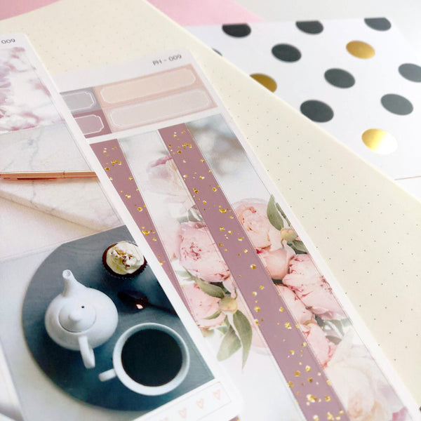 Pink Floral Photo Weekly Planner Sticker kit | Mistrunner Designs