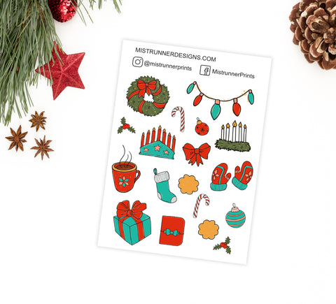 Christmas Decorative Icon Planner Stickers - Mistrunner Prints