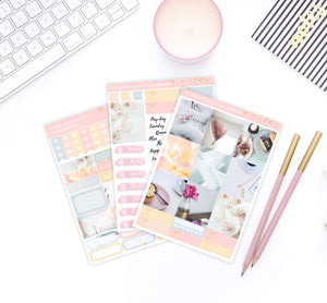 Planning and Coffee Photo Weekly B6 Planner Sticker kit - Mistrunner Prints