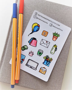 Cute Hand Drawn Decorative Planner Sticker Kit - Mistrunner Prints