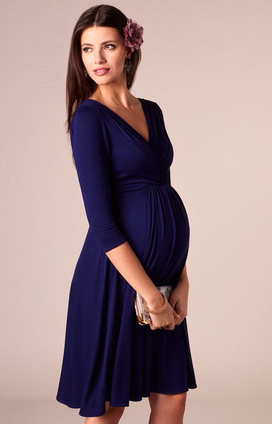 Classic Maternity V-neck Blue Long-sleeve Nursing Dress = BabyAlex, Afterpay Available, Toddler Clothes, Diaper Bag, Designer Diaper Bag, Diaper Bag Backpack, Baby Shop Australia, Alex Collections, Baby Clothe Australia