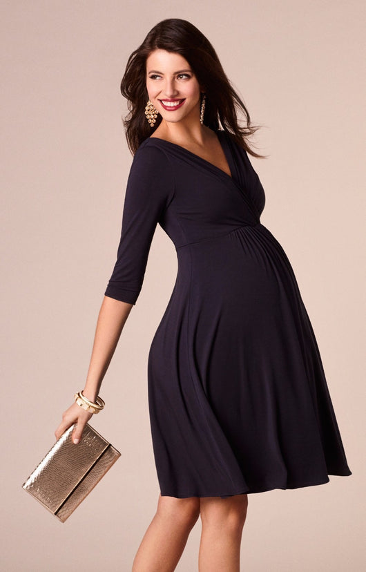 Classic Maternity V-neck Black Long-sleeve Nursing Dress = BabyAlex, Afterpay Available, Toddler Clothes, Diaper Bag, Designer Diaper Bag, Diaper Bag Backpack, Baby Shop Australia, Alex Collections, Baby Clothe Australia