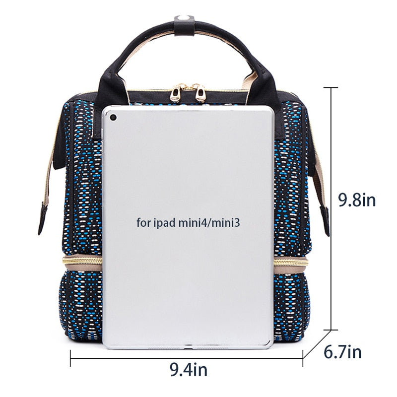 New Stylish Baby Bag USB Backpack