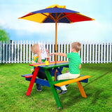 Rainbow Wooden Picnic Table = BabyAlex, Afterpay Available, Toddler Clothes, Diaper Bag, Designer Diaper Bag, Diaper Bag Backpack, Baby Shop Australia, Alex Collections, Baby Clothe Australia