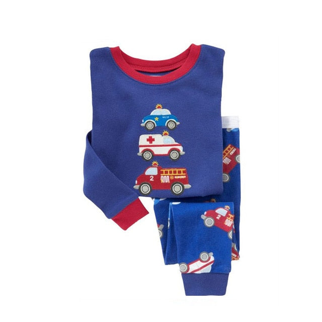 Emergency Services Printed Sleepwear Kids Pajamas Set