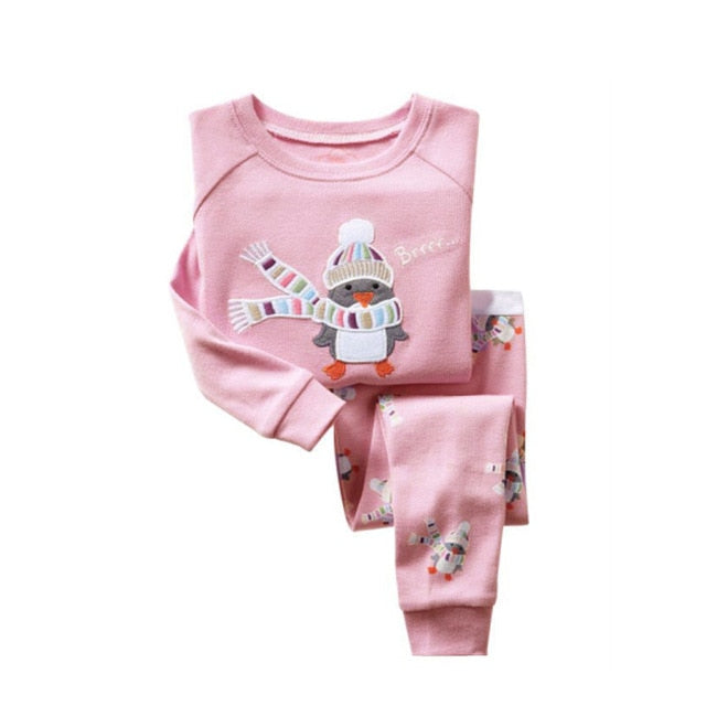 Cute Penguin Sleepwear Kids Pajamas Set