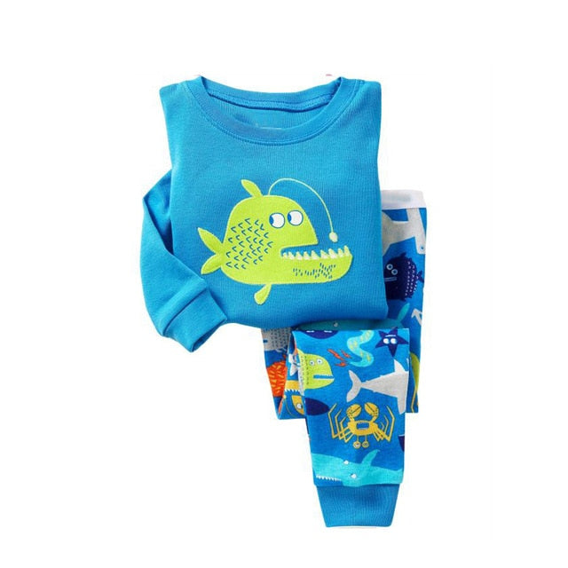 Angler Fish Sleepwear Kids Pajamas Set