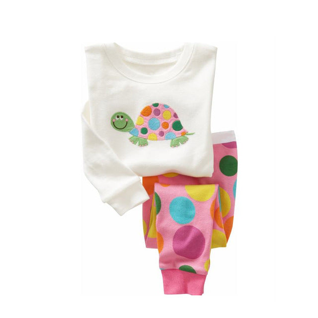 Rainbow Turtle Sleepwear Kids Pajamas Set