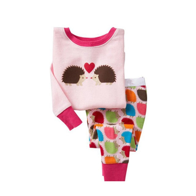 Hedgehog Cute Baby Sleepwear Kids Pajamas Set