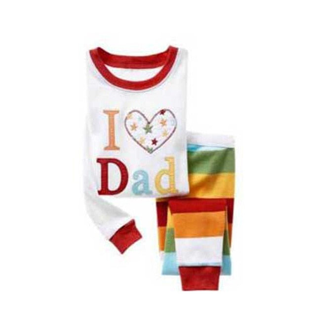 I love Dad Sleepwear Kids Pajamas Set