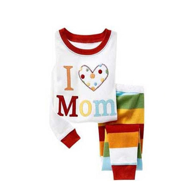 I love Mom Sleepwear Kids Pajamas Set