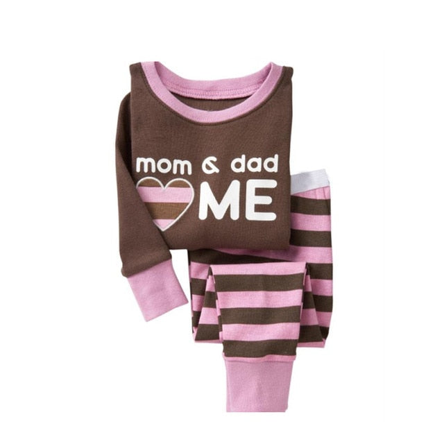 Mom Dad & Me Sleepwear Kids Pajamas Set
