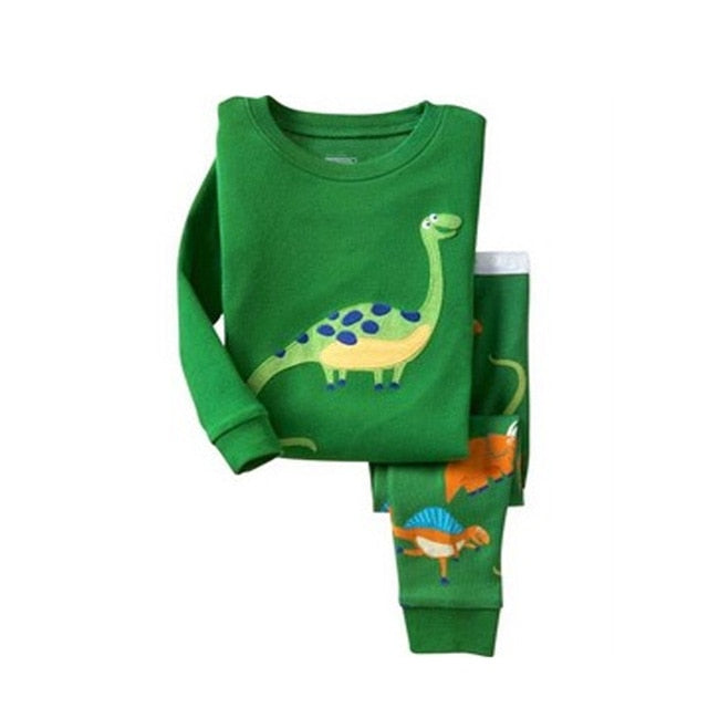 Cute Dino Sleepwear Kids Pajamas Set