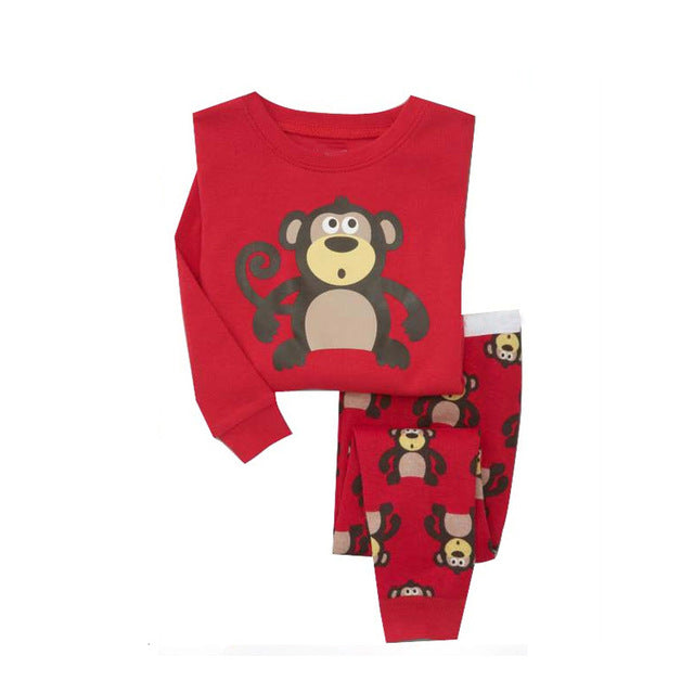 Monkey Baby Sleepwear Kids Pajamas Set