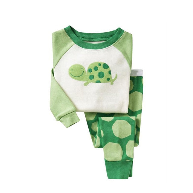 Green Turtle Sleepwear Kids Pajamas Set
