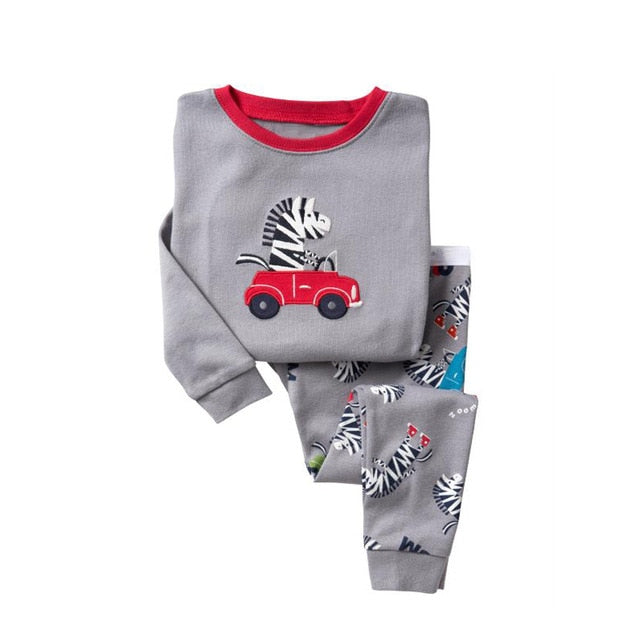 Driving Zebra Sleepwear Kids Pajamas Set