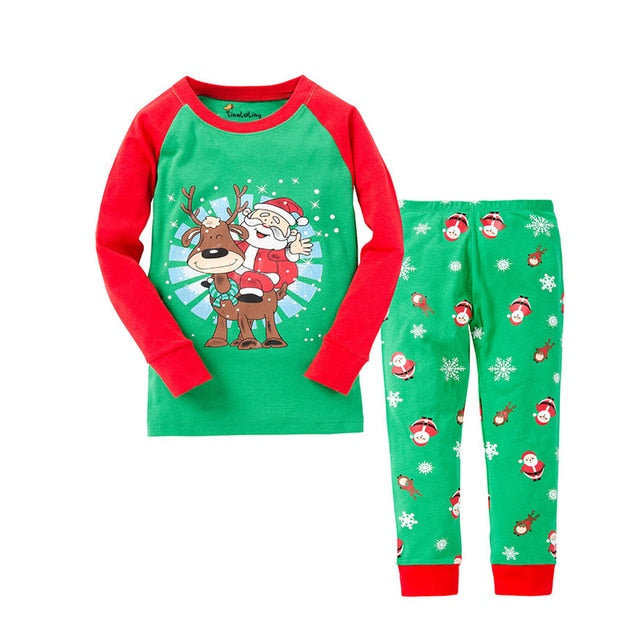 Santa Wave Sleepwear Kids Pajamas Set