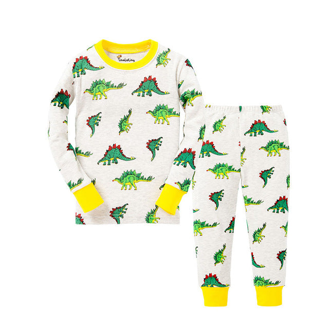 Dinosaurs Sleepwear Kids Pajamas Set