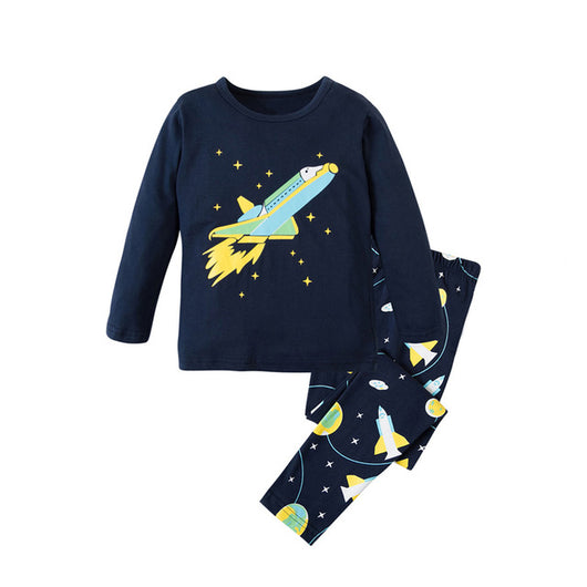 Rocket Print Sleepwear Kids Pajamas Set = BabyAlex, Afterpay Available, Toddler Clothes, Diaper Bag, Designer Diaper Bag, Diaper Bag Backpack, Baby Shop Australia, Alex Collections, Baby Clothe Australia